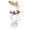 Dekorasyon Gifts & Decor Christmas Tabletop Ornate Reindeer with Stripes Figurine