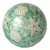 Dekorasyon Gifts & Decor Seashell Ball with Glitter (Set of 2)