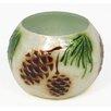 Dekorasyon Gifts & Decor Pine Cone Capiz Shell and Glass Votive
