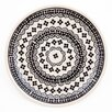 "Pottery Avenue by Pangaea Trade INC Black Diamond 8"" Lunch/Salad Plate"
