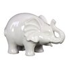 Urban Trends Ceramic Elephant SM Gloss White