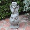 Sitting Cherub Statue - Urban Trends Garden Statues and Outdoor Accents
