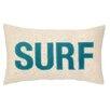 Peking Handicraft Nautical Applique Surf Lumbar Pillow