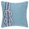 Peking Handicraft Nautical Hook Knot Throw Pillow