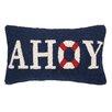Peking Handicraft Nautical Hook Ahoy Throw Pillow