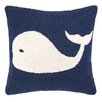 Peking Handicraft Nautical Hook Whale Throw Pillow