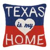 Peking Handicraft Texas Is My Home Wool Throw Pillow