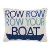 Peking Handicraft Row Row Row Your Boat Hook Wool Throw Pillow