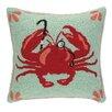 Peking Handicraft Crab with Monocle Hook Wool Throw Pillow