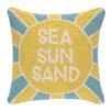 Peking Handicraft Sea Sun Sand Hook Wool Throw Pillow