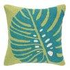 Peking Handicraft Palm Leaf Hook Wool Throw Pillow