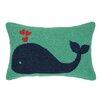 Peking Handicraft Whale Heart Hook Wool Lumbar Pillow