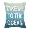 Peking Handicraft Take Me to the Ocean Hook Wool Lumbar Pillow