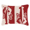 Peking Handicraft Double Colorway Lobsters Hook Wool Lumbar Pillow