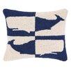 Peking Handicraft Double Colorway Whales Hook Wool Lumbar Pillow