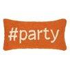 Peking Handicraft Hashtag Party Hook Wool Lumbar Pillow