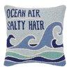 Peking Handicraft Ocean Air Salty Hair Hook Wool Throw Pillow