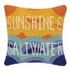 Peking Handicraft Sunshine and Salt Water Hook Wool Throw Pillow
