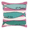 Peking Handicraft Three Whales Hook Wool Throw Pillow