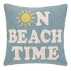 Peking Handicraft On Beach Time Hook Wool Throw Pillow