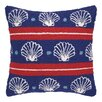 Peking Handicraft Seashells Hook Wool Throw Pillow