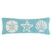 Peking Handicraft Seashell Hook Wool Throw Pillow