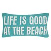 Peking Handicraft Life is Good at the Beach Hook Wool Lumbar Pillow