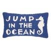Peking Handicraft Jump in the Ocean Hook Wool Lumbar Pillow