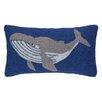Peking Handicraft Humpback Whale Hook Wool Lumbar Pillow