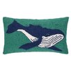 Peking Handicraft Humpback Whale Hook Wool Lumbar Pillow