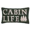 Peking Handicraft Cabin Life Hook Wool Lumbar Pillow