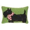 Peking Handicraft Terrier with Scarf Hook Wool Throw Pillow
