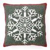 Peking Handicraft Snowflake Hook Wool Throw Pillow