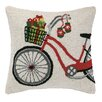 Peking Handicraft Presents on Bicycle Hook Wool Throw Pillow