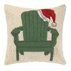 Peking Handicraft Chair with Santa Hat Hook Wool Throw Pillow