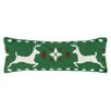 Peking Handicraft Fair Isle Reindeer Hook Wool Throw Pillow