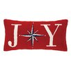Peking Handicraft Joy Christmas Star Hook Wool Throw Pillow