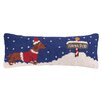 Peking Handicraft North Pole Dachshund Hook Wool Throw Pillow