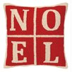 Peking Handicraft Noel Christmas Blocks Hook Wool Throw Pillow