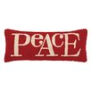 Peking Handicraft Peace Lettering Hook Lumbar Pillow