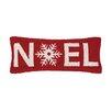Peking Handicraft Noel Christmas Hook Wool Throw Pillow