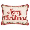 Peking Handicraft Christmas Medallion Needlepoint Lumbar Pillow