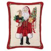 Peking Handicraft Santa and Puppy Needlepoint Lumbar Pillow