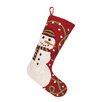 Peking Handicraft Snowman Ribbon Hook Stocking