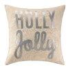 Peking Handicraft Holly Jolly Sequins Throw Pillow