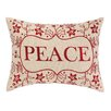 Peking Handicraft Peace Foliage Embroidery Linen Throw Pillow