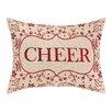 Peking Handicraft Cheer Foliage Embroidery Linen Throw Pillow