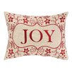 Peking Handicraft Joy Foliage Embroidery Linen Throw Pillow