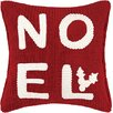 Peking Handicraft Noel Applique Cable Knit Throw Pillow