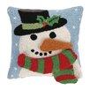 Peking Handicraft Snowman 3D Hook Throw Pillow
